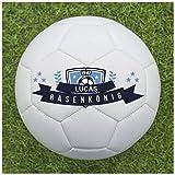 Balleristo Fußball als Geschenk personalisieren [Rasenkönig] - Fußball selbst gestalten und mit eigenem Text oder Namen bedrucken lassen