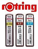 rOtring Tikky 3er Set Ersatzminen HB (2, Ersatzminen Set  0,35 HB  0,5 HB  0,7 HB)