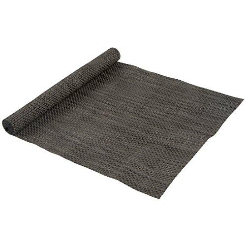 Levivo Chemin de table en plastique tressé et facile à nettoyer Noir, 38 x 140 cm