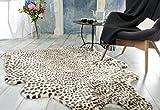 Eleganter Fellteppich, Webpelzteppich, Teppich 'Leopard' aus Kunstfell