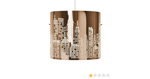 Plafoniere Minisun : Minisun paralume lampada da soffitto design di new york skyline