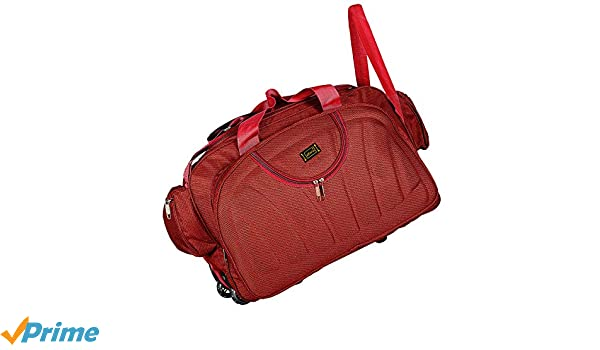 ... Alfisha (Expandable) Lightweight Waterproof Luggage Travel Duffel Bag  with Roller Wheels - Gala Red ... 13f8d8a649