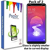 Oppo Realme 1 Tempered Glass (Pack of 2) by Popio®