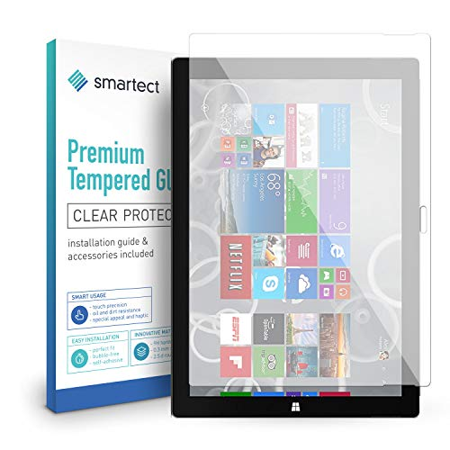Preisvergleich Produktbild smartect Panzerglas für Microsoft Surface Pro 3 - Displayschutz mit 9H Härte - Blasenfreie Schutzfolie - Anti Fingerprint Panzerglasfolie