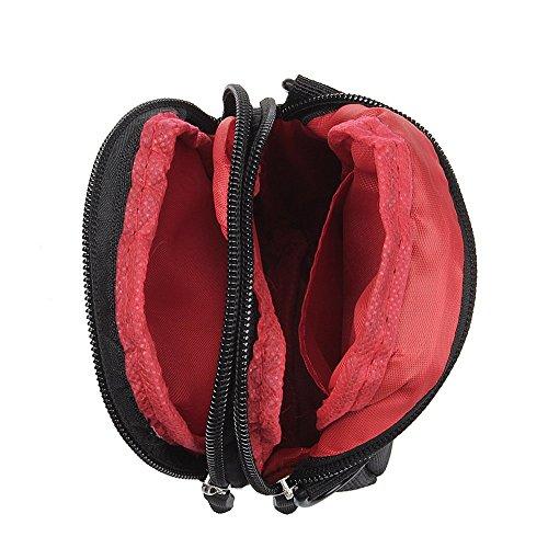xhorizon marsupio sacchetto di sopravvivenza in Nylon con gancio per tracolla a fianco borsa con manico multiuso universale di grande capacità per viaggi all'aperto, campeggio, escursionismo #B Blu