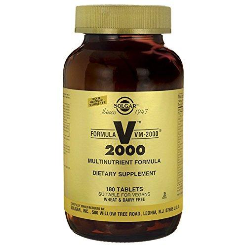 Solgar   VM 2000   Multivitamin und -mineral   180 vegane Tabletten   glutenfrei