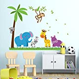 UberLyfe Jungle Theme Wall Sticker Size ...