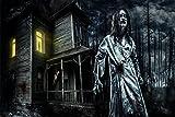 Geisterhaus Zombie Horror XXL Wandbild Kunstdruck Foto Poster P0578 Größe 150 cm x 100 cm, Größe 150 cm x 100 cm