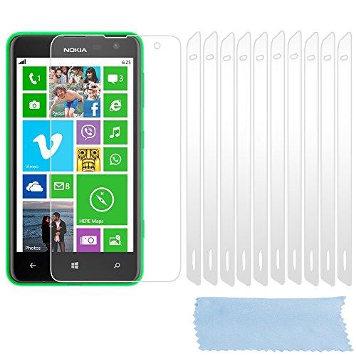 Preisvergleich Produktbild Cadorabo DE-102238 Displayschutzfolien für Nokia Lumia 625 10 Stück hochtransparenter Schutzfolien gegen Staub,  Schmutz und Kratzer High Klar