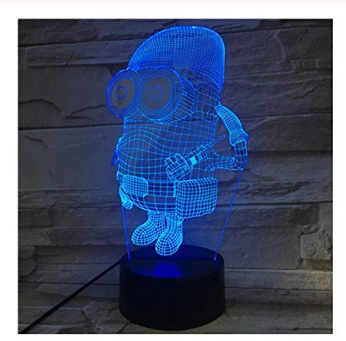 Minions 3D LED Nachtlicht Lampe Freund Baby Geschenk Nachtlicht USB oder batteriebetriebenes Büro dekorative Lampenfarben