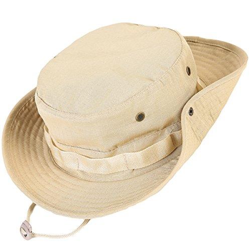Unisex Militar Sombrero - Tela de algodón y poliéster suave superior, Sturdy Stitching Ala ancha para hombre y para mujer Boonie- Top Camo Sombrero de cubo en colores atractivos para deportes Pescar