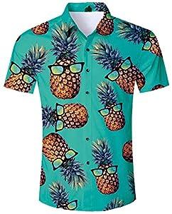 ALISISTER Camisa Hawaiana Hombre Manga