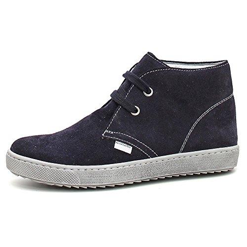 Nero Giardini Junior , Chaussures de ville à lacets pour garçon Bleu Blu Bleu - Blu (Velour Indios Blu)