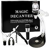 Yobansa, filtro aeratore per vino magico commestibile con supporto torre per mani libere, set decanter per vino rosso, set regalo per Natale 8 pcs Corkscrew Aerator Gift set