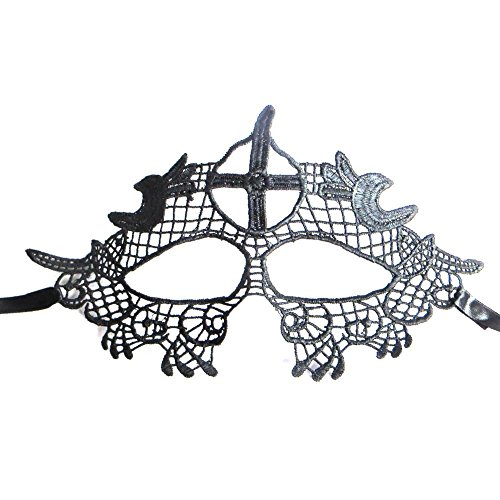 Wicemoon Frauen spezielle Schläger Entwurfs Maskerade Abschlussball Schablone Cosplay Kostüm Holloween Bälle Fantastische Spitze Ausschnitt Schablone #3 Abschnitt (Drei Menschen Kostüme)
