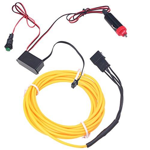 POSSBAY EL Wire LED Neon Lichtstreifen Tanzendes Blinklicht Seil Haus Party Auto LED Beleuchtung Dekoration mit Transformator Halloween Dekoration, (Halloween Transformatoren)