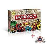 Marvel Comics. Monopoly Retro (Limited Edition) + Captain America Multitool Schlüsselanhänger