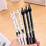Bonitos bolígrafos con diseño de gatito, punta de pluma de 0,38mm, ideales para la escuela, la oficina, perfectos como regalo de cumpleaños, para los chicos que regresan a clases, como regalo de Navidad, conjunto de 12 unidades, de Allbusky  Cat Pen A