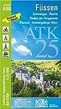 ATK25-R08 Füssen (Amtliche Topographische Karte 1:25000): Schwangau,Reutte, Rieden am Forggensee, Plansee, Ammergebirge-West (ATK25 Amtliche Topographische Karte 1:25000 Bayern)