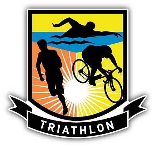 Triathlon Sport Hochwertigen Auto-Autoaufkleber 12 x 12 cm