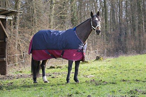 Synthetischem Lammfell Pad (Pferdedecke Outdoor Decke TYREX 1200 Denier Nylon Innenfutter, wasserdicht, atmungsaktiv, Kreuzgurte usw. 145 cm)