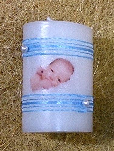 Detalle de Bautizo regalo de bautizo-foto cinta (azul)Vela decorada con una fotografía del bebe con el nombre y la fecha del bautizo, dos cintas y dos perlas blancas. Tenemos la cinta de tres colores diferentes, azul, rosa o blanco crudo.ENVIAR LAS FOTOS A WSAPP 632042067 INDICANDO NOMBRE DEL BEBE-FECHA Y Nº DE