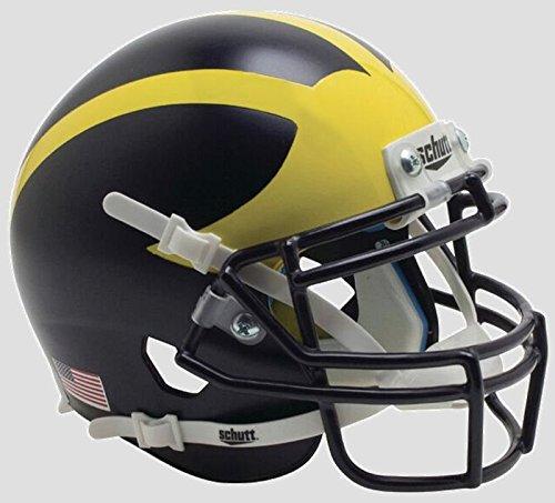 Schutt NCAA Michigan Wolverines, Unisex, NCAA Michigan Wolverines Mini Authentic XP Football Helmet, 2016 Alt. 3, Mini
