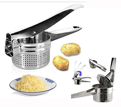 aksans (TM) New Edelstahl Hand Held Kartoffelstampfer Kartoffelpresse Püree Saftpresse Presse Maker