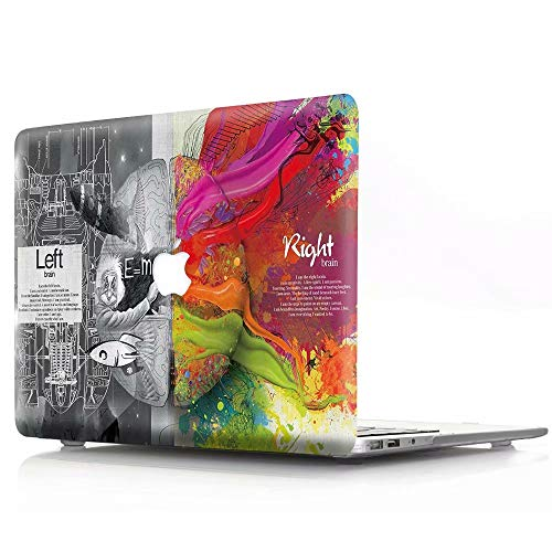 AQYLQ Left and Right Brain MacBook Air 13 Zoll Hülle Schutzhülle Case Cover MacBook Air 13.3 Hülle {A1369 / A1466} - Technisches Gehirn