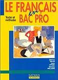 Image de Le français en bac professionnel, 1996. Livre de l'élève