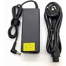 Adaptador Cargador Nuevo Compatible para portátiles Toshiba Satellite Pro C , L , M , S , T , U Series del listado 19V 4,74a o inferior con punta de 5,5mm x 2,5mm