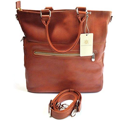 "Sonnenleder - hochwertige Handtasche ""SIENA"" Farbe: Natur, Innenfutter: Ecru *Echtes Leder*"