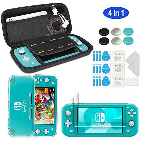 innoAura Kit di Accessori per Nintendo Switch Lite include una Custodia per il Trasporto Cover Case TPU 2 Schermi Protettivi Vetro Temperato HD per