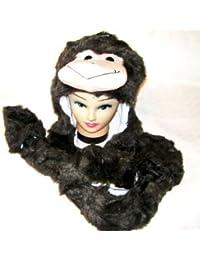 Niños Animal del trampero sombrero de 3-en-1. - Sombrero, bufanda, guantes. Diseño del mono