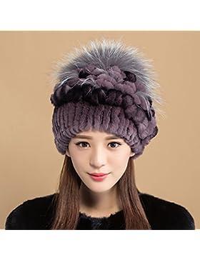 XIAOLIN- Cappello Femmina Inverno Mamma Cappello Thicker Tenere Caldo Linguetta Freddo Cappello --Sciarpa calda...