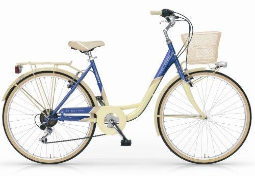 MBM PARISIENNE 26 BICYCLE CITY BIKE TREKKING BICICLETA DE CIUDAD WOMAN MUJER 6S MARFIL/AZUL