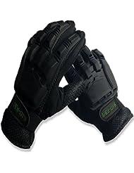 * Venta * Paintball guantes deniable-ops (den-ops) Close Contact blindados con armadura de plástico flexible, Airsoft guantes, color negro, tamaño small