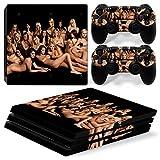 stillshine PS4Pro Console design Foils Vinyl Skin Sticker Decal Sticker and 2Pro Playstation 4DualShock contrôleur Skins Set noir Sexy Girl