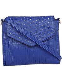 9c1230d354 Fur Jaden Navy Blue Fringed Sling Bag for Women
