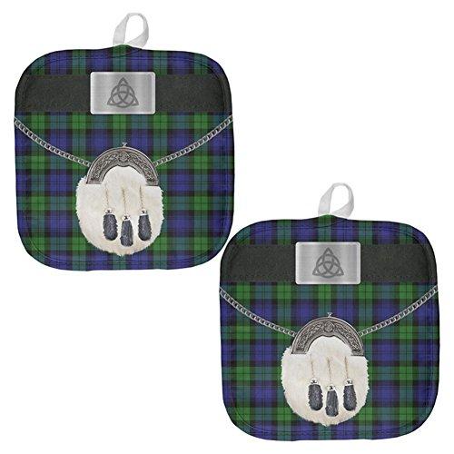 St. Patricks Tag Kilt Black Watch Scottish Kostüm Topfhalter Set von 2 Multi Standard One Größe