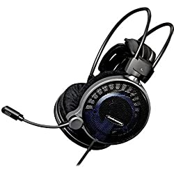 Audio-Technica ATH-ADG1X Casque Gaming Ouvert Haute-Fidélité, Noir/Argent