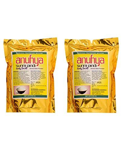 Anuhya Herbal Bath Powder, Yellow, 500 g (Pack of 2)