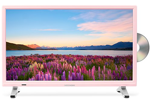 Medion Life P12501 MD 21501 54,6 cm (21,5 Zoll Full HD) Fernseher (LCD-TV mit LED-Backlight, Triple Tuner, DVB-T2 HD, HDMI, CI+, Integrierter DVD-Player und Medienplayer) Rosa