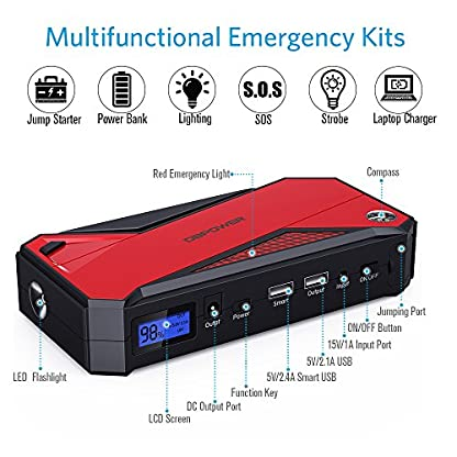 512QVl8az2L. SS416  - Batería de emergencia DBPOWER DJS50