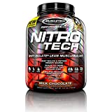 MuscleTech NitroTech Whey Protein Powder, Whey Isolate and Peptides, Milk Chocolate, 3.97 Pound