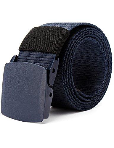 MinYuocom Hombre Cinturón Prevenir Alergia Nylon Lona Militar Táctico Plástico Hebilla MPD90102