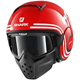 SHARK Casque Moto Raw 72 RWK, Rouge, Taille S