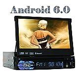 Eincar Android 6.0 Universal Single Din Autoradio 1 DIN Head Unit GPS Sat Navigation mit Multimedia System Support DAB +, Telefon Mirroring, WiFi 3G 4G, Radio RDS, 64GB USB SD, Bluetooth, OBD, Lenkr