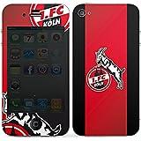 Apple iPhone 4s Case Skin Sticker aus Vinyl-Folie Aufkleber 1. FC Köln Fanartikel Fussball