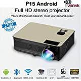 Punnkk P15 A 3000Lumen Built-in Android 6.0,Bluetooth, Wi-fi Projector Full HD 1080p HDMI VGA USB Projector With 3D Glasses/Spectacles